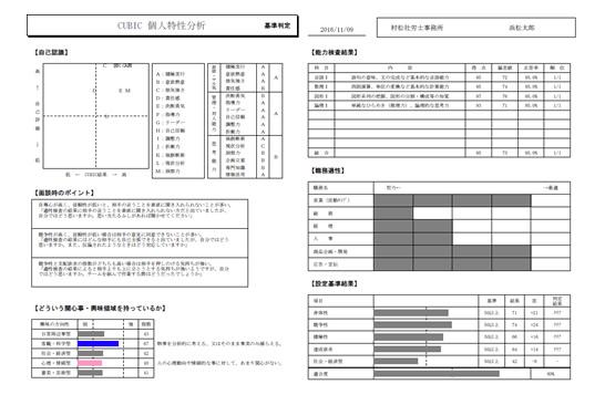 CUBIC 個人特性分析 サンプル02